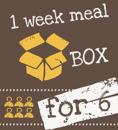 1 week Meal Box for 6