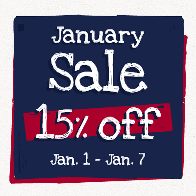 15% off January Sale