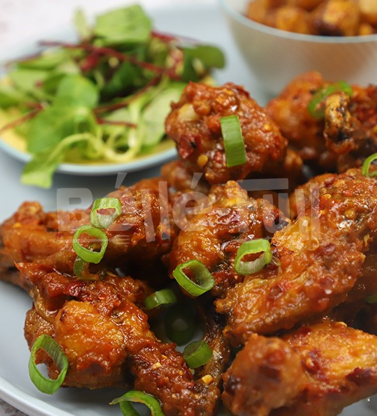Sweet & spicy ata dindin chicken wings